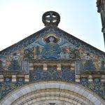 Briare - église St Etienne façade - émaux - 22 août 2018 - OT Terres de loire et Canaux - IRémy (44)